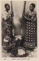 Swahili girls pounding grain