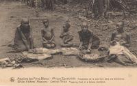Preparing food in a banana plantation