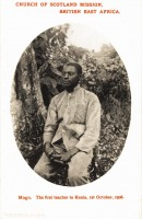 Mogu. The first teacher to Kenya, 1st October 1908