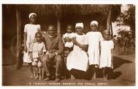 "A ""Kikuyu"" African minister and family, Kenya"