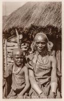 "A ""Kikuyu"" woman and child. Kenya"