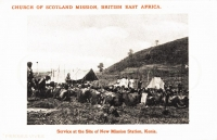 Service at the site of the nex Mission Station, Kenia