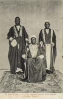 Sir Apolo Kagwa, K.C.M.G. (Katikiro) and two fellow Regents of King of Uganda