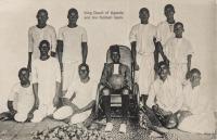 King Daudi of Uganda and his football team