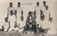 King Daudi of Uganda and his football team