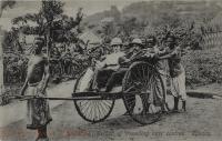Rickshaw. Method of travelling near centres. Uganda