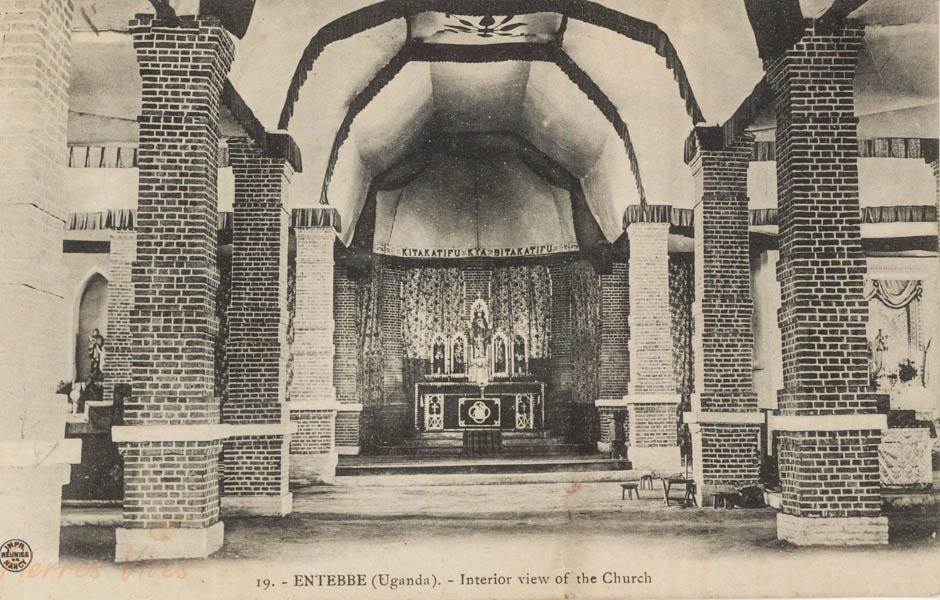 ENTEBBE (Ouganda) - Interior view of the Church