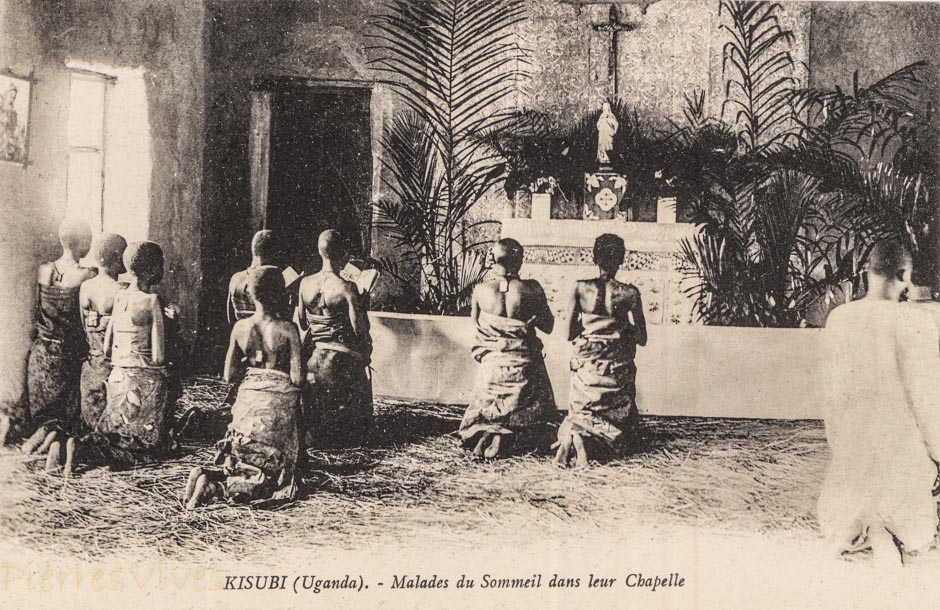 KISUBI (Uganda) Malades du sommeil dans leur Chapelle