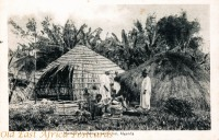 Method of building a native hut, Uganda