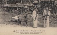 Natives in a bananary