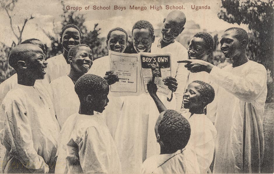 Group of Shool Boys. Mengo High School. Uganda