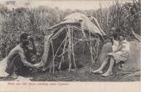 White ant Hill (boys catching ants). Uganda