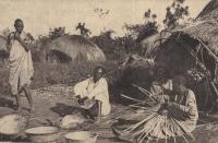 Uganda - Natives at basket work