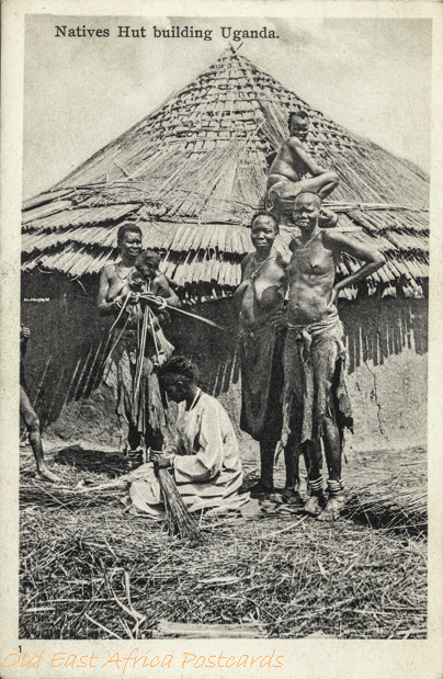 Natives Hut building Uganda