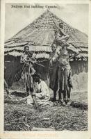 Natives Hut building Uganda