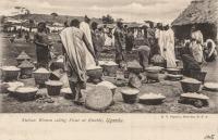 Native Women selling Flour at Entebbe, Uganda