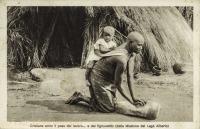 Cristiana sotto il peso del lavoro…e del figliuoletto (della Missione del Lago Alberto)