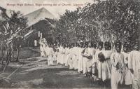 Mengo High School, Boys coming out of Church. Uganda