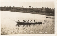 Native canoe on Victoria Nyanza