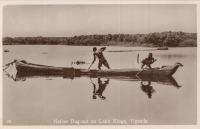 Native dug-out on Lake Kyoga, Uganda