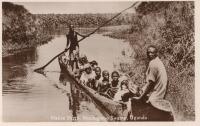 Native Ferry, Mpologomo Swamp, Uganda