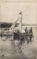 KISUBI (Uganda) Boat of the Mission fetching plantains for the sick