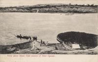 Ferry above Ripon Falls (Source of Nile), Uganda