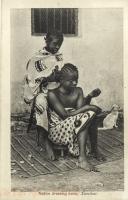 Native dressing hairs, Zanzibar