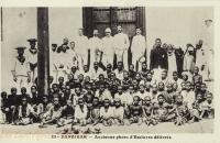 Ancienne photo d'Esclaves délivrés