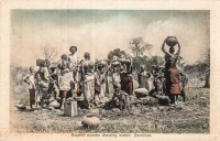 Swahili Women drawing water