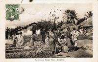 Natives at water pipe