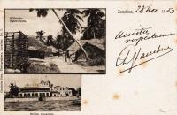 N'Gambo native huts + British Consulate