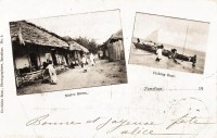 Native street + Fishing boat