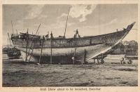 Arab Dhow about to be launched, Zanzibar