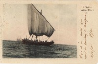A native sailing Dhow