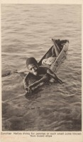 Zanzibar - Native diving for pennies or such small coins thrown form board ships