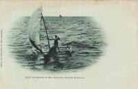 Fuite d'un esclave en mer (Zanzibar)