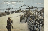 H. H. Guard of honour at the Landing Pier