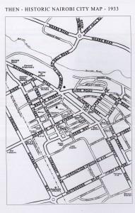 Map NAIROBI Then