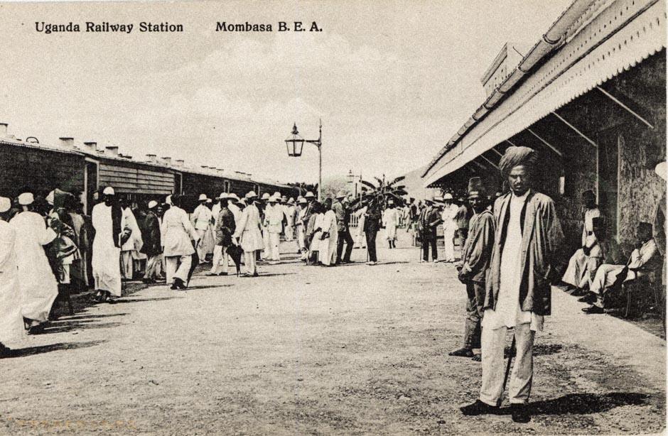 Uganda Railway Station. Mombasa B.E.A.