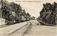 Mombasa. Train on Mainland (Chamgamwe)