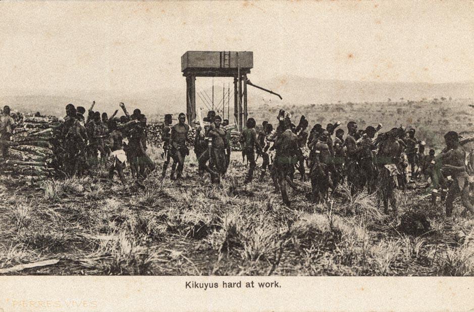 Kikuyus hard at work