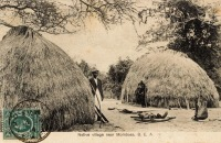 Native Village near Mombasa. B.E.A.