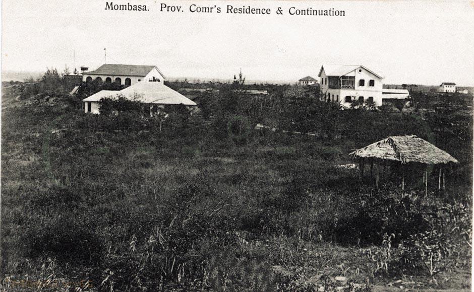 Mombasa. Prov. Comr's Residence & Continuation