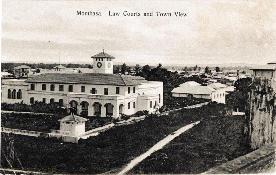 Mombasa. Law Courts and Town View