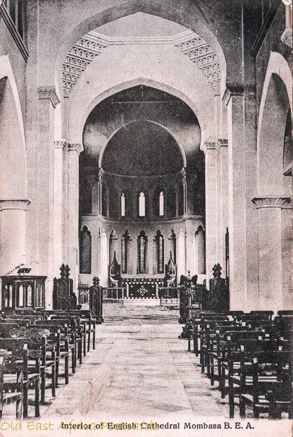Interior of English Cathedral, Mombasa B.E.A.