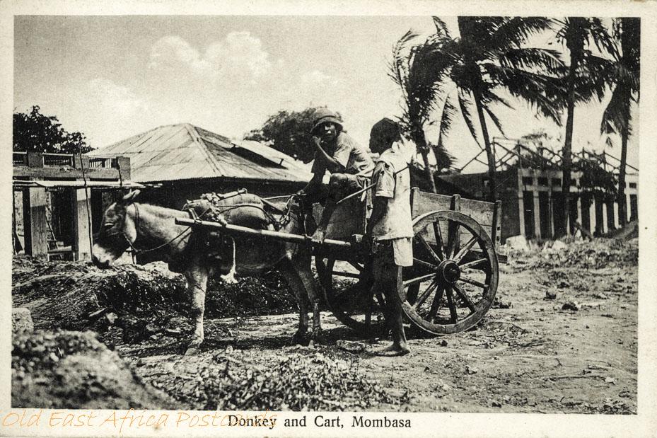 Donkey and Cart. Mombasa