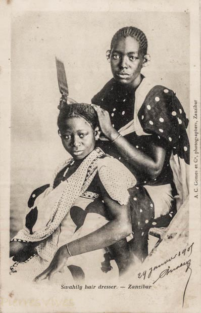 Swahily hair dresser - Zanzibar