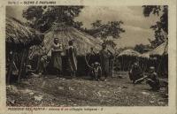 Interno d un villaggio indigeno