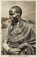 Massai woman with brass-ornaments